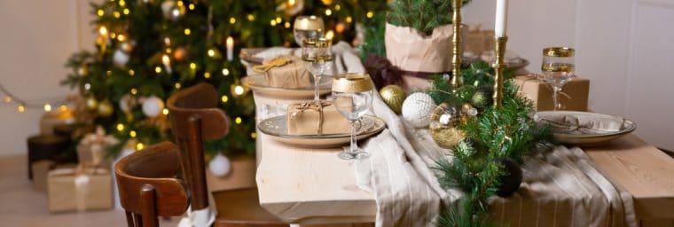 Décoration table de Noël à faire soi-même