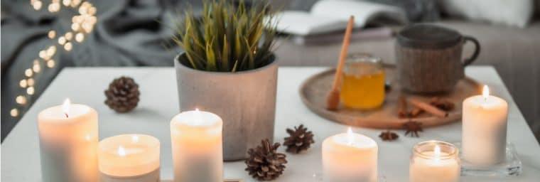 guirlande de bougies faite maison