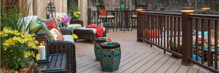 nuance couleurs terrasse bois