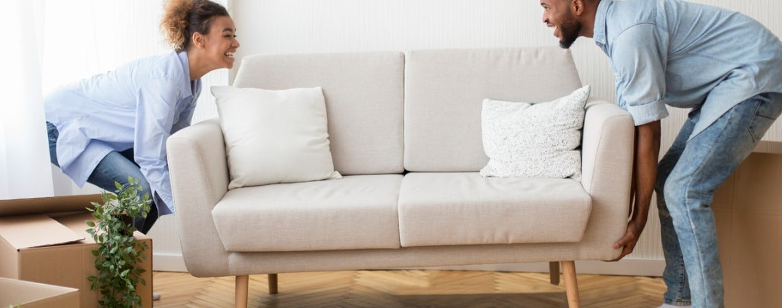 Déménagement d'un petit canapé